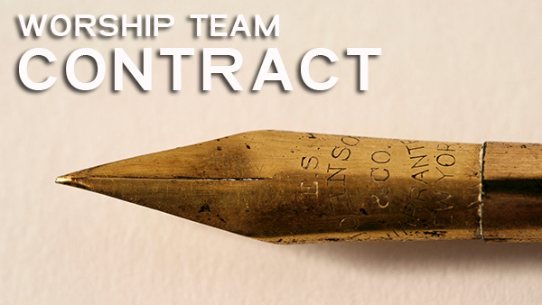 Worship Team Contract Template